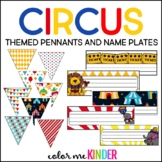 Circus Themed Classroom Pennants & Nameplates