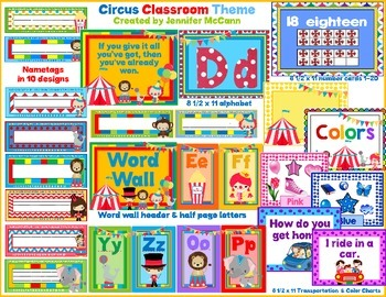 Circus Themed Classroom Resources for Back to School