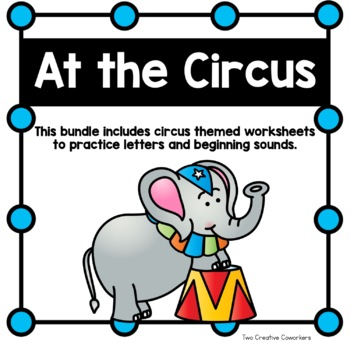Beginning Sounds Picture Sorts & Mini Book {Circus Themed}