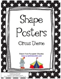 Circus Themed Shape Posters