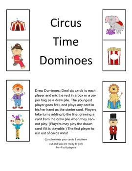 Circus Time Dominoes
