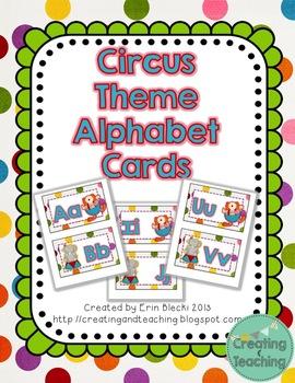 Circus Word Wall Cards