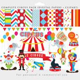 Circus clipart - circus clip art, lion, elephant, clowns,