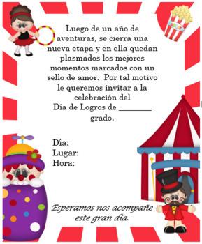 Circus invitation