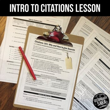 Citations are like Brand Names: Intro Lesson for ANY Resea