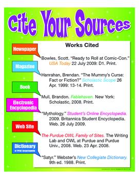 """Cite Your Sources- 8½"""" x 11"""""""