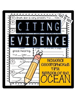 Citing Evidence Nonfiction Response National Geo Kids Firs