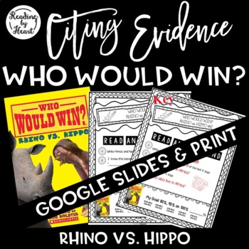 Citing Evidence Nonfiction Response Who Would Win? Rhino v
