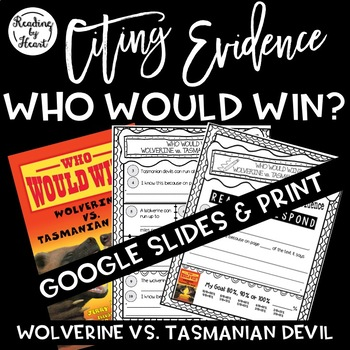 Citing Evidence Nonfiction Response Who Would Win? Wolveri