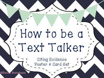 Citing Evidence Poster and Card Set