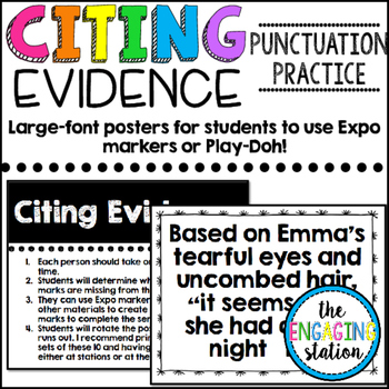 (Play-Doh) Citing Evidence Punctuation Practice
