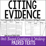 Citing Evidence Practice (Paired Texts)