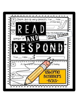 Citing Evidence in Informational Texts Reading Response Us