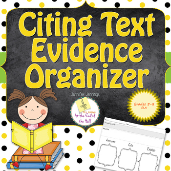 Citing Text Evidence Organizer