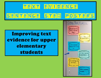Citing Text Evidence Sentence Stem Posters