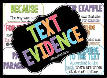 Citing Textual Evidence Poster Kit