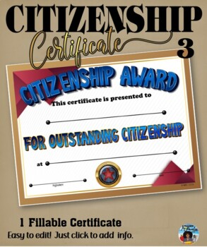 Citizenship Award #3