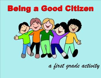 Citizenship Booklet Activity and SmartBoard Lesson for Fir