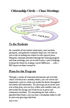Citizenship Circles-Class Meetings/Character Education