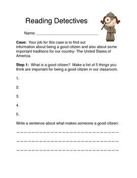Citizenship Reading Detectives