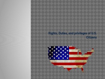 Citizenship - Rights, Duties and Priviledges of US Citizens