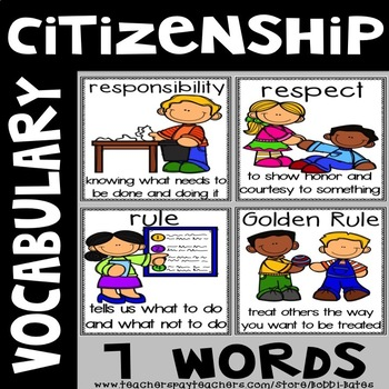 Citizenship Vocabulary Word Posters