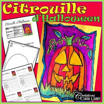 Halloween: Arts plastiques:  Citrouille, automne, plan de