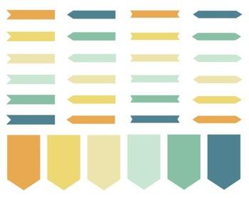 Citrus Arrow Labels, Digital Design, Citrus Arrow Set #113