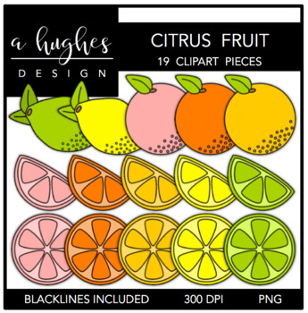 Citrus Fruits {Graphics for Commercial Use}