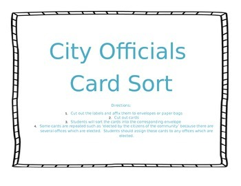 City Government Sort