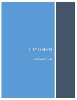 City Green Vocabulary Test