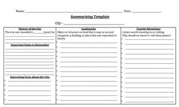 City History - Summarizing Template
