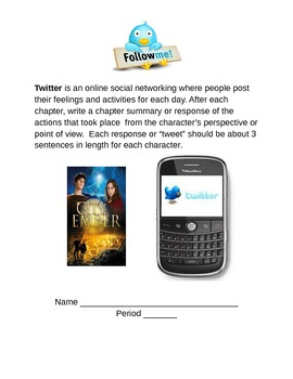 City of Ember Writing Activity Twitter