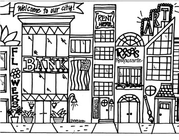 Cityscape Coloring Sheet