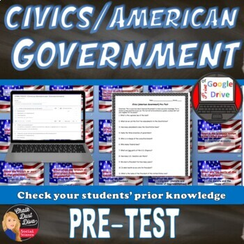 Civics (American Government) Pre-Test & Review Game