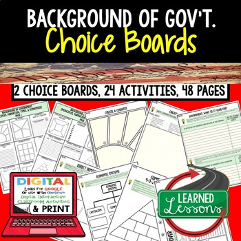 Background of U.S. Government Choice Board & Activities Go