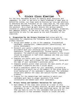 Civics Class Election!