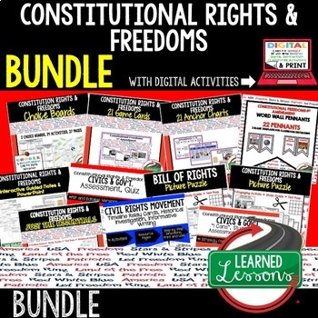 Civics Constitutional Freedoms and Rights BUNDLE (Civics &