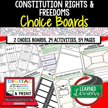 Constitutional Rights Choice Board Activities, Google, CIVICS