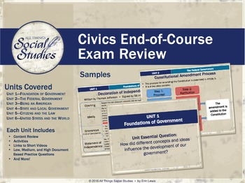 Civics End of Course (EOC) Exam Review