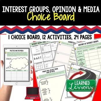 Civics Interest Groups, Public Opinion, & Media Choice Boa