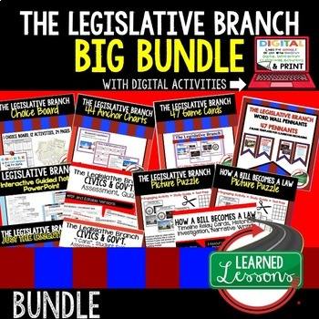 Civics Legislative Branch of Government BUNDLE (Civics & G