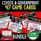 Civics Politics, Voting, and Elections Game Cards (41 Cards)
