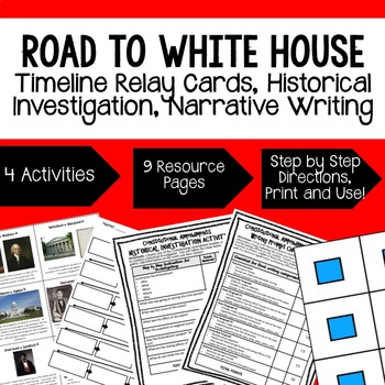 Civics Steps to Presidency Sequencing & Narrative Writing