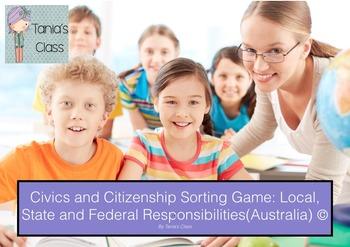 Civics & Citizenship: Game- Level of Government Responsibi