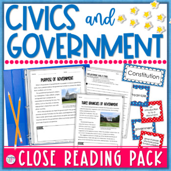 Civics and Government Close Reading for 3rd Grade