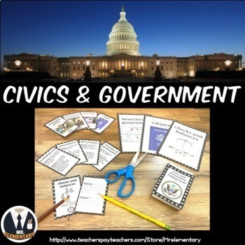 Civics and Government Trading Cards and Word Wall