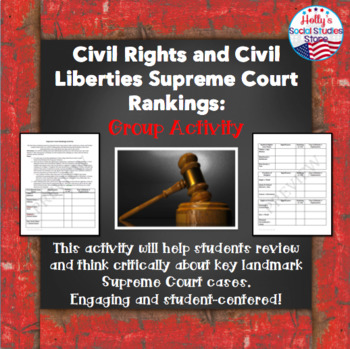 Civil Liberties and Civil Rights Supreme Court Rankings