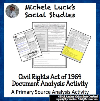 Civil Rights Act of 1964 Document Analysis Activity