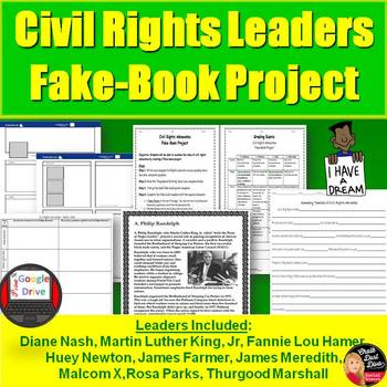 Civil Rights Leaders  Fake-Book Project (U.S History)